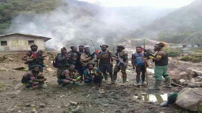 Foto ilustrasi anggota  KKB Papua baku tembak dengan pasukan TNI-Polri di Puncak.