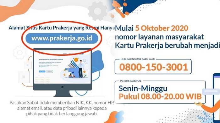 Marak Penipuan Pendaftaran Kartu Pra Kerja Pakai Link Situs prakerja.vip, Awas Berbahaya jika Diklik