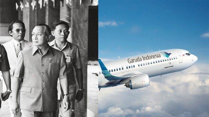 Soeharto Sewa Pesawat Garuda untuk Selamatkan Presiden Kamboja, ini 4 Fakta Misi Rahasia Pak Harto