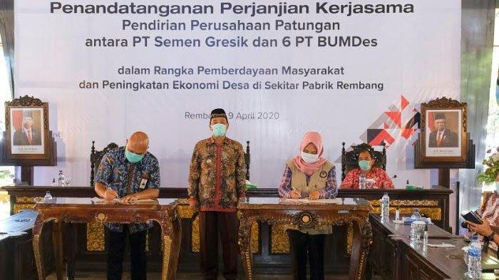 SIG Prakarsai Pendirian Perusahaan Patungan dengan BUMDes Rembang