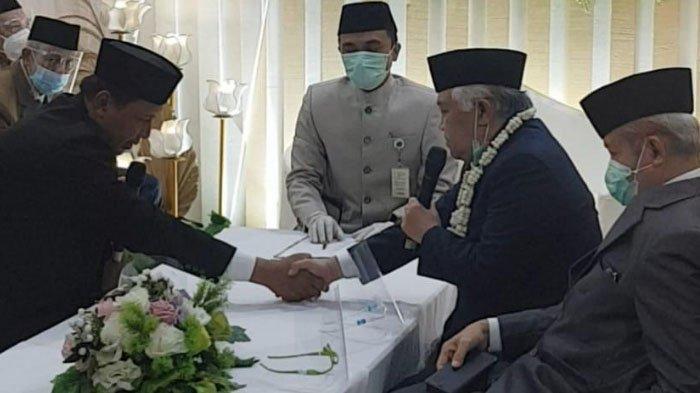 Suasana Pernikahan Mantan Ketua Umum Muhammadiyah, Din Syamsuddin dan Rashda Diana di Ponorogo