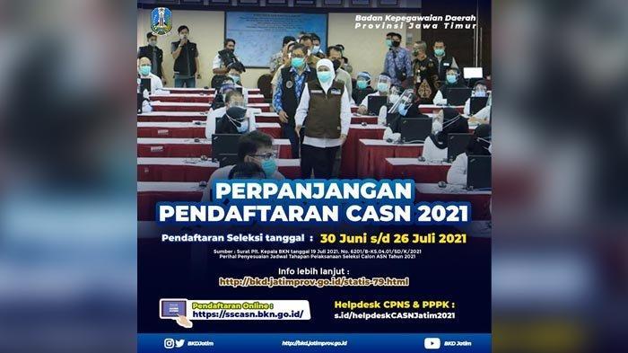 Pendaftaran CASN Diperpanjang, Gubernur Khofifah Harap Banyak Nakes yang Manfaatkan Peluang