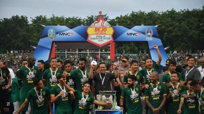 Pesan Aji Santoso kepada Bonek Mania setelah Persebaya Surabaya Juara Piala Gubernur Jatim 2020