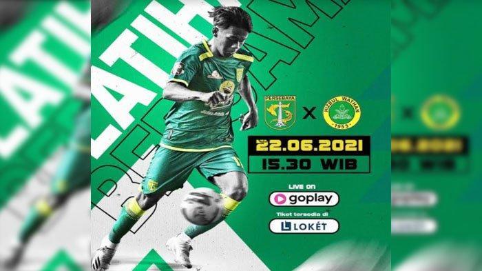 Persebaya Surabaya akan menggelar latihan bersama dengan kontestan Liga 2 asal Jatim, Hizbul Wathan FC, Selasa (22/6/2021)