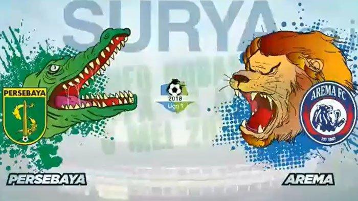 Live Streaming Persebaya VS Arema FC Pukul 15.30 WIB, Singo Edan Siap Hadapi Teror Bonek di GBT