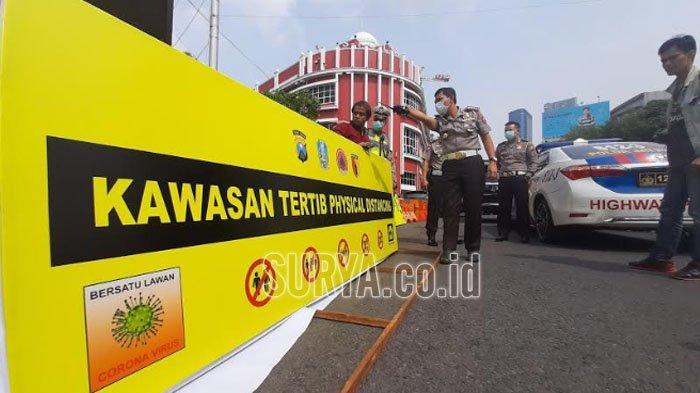 Meski Ada Kelonggaran, Ruas Jalan Physical Distancing di Kota Surabaya Tetap Ditutup