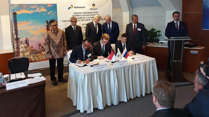 Pertamina-Rosneft Teken Kontrak Desain Kilang Minyak di Tuban, Target 2025 Beroperasi