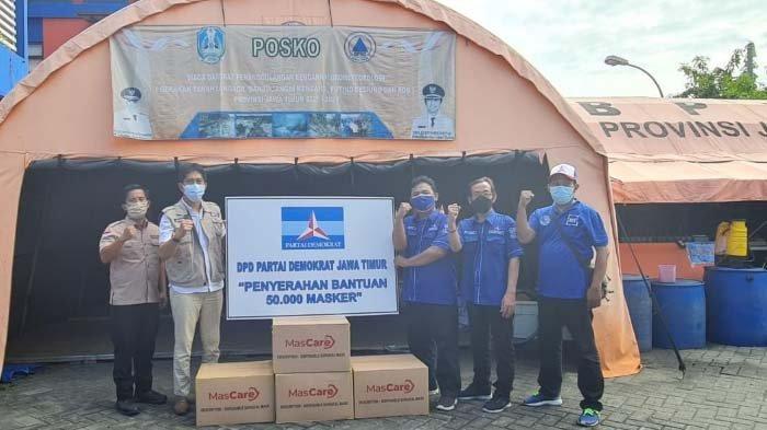Partai Demokrat Jatim Salurkan Puluhan Ribu Masker Medis untuk Penanganan Pandemi Covid-19