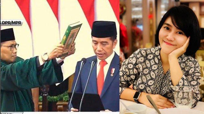 Pesan Perpisahan Paspampres Cantik Sandhyca Putrie Saat Jokowi Dilantik, Masih Mengawal Iriana?