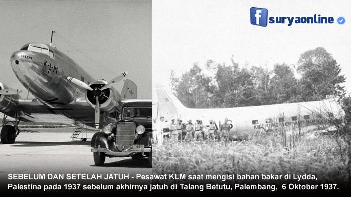 Oktober 1937, Pesawat Belanda Jatuh di Palembang