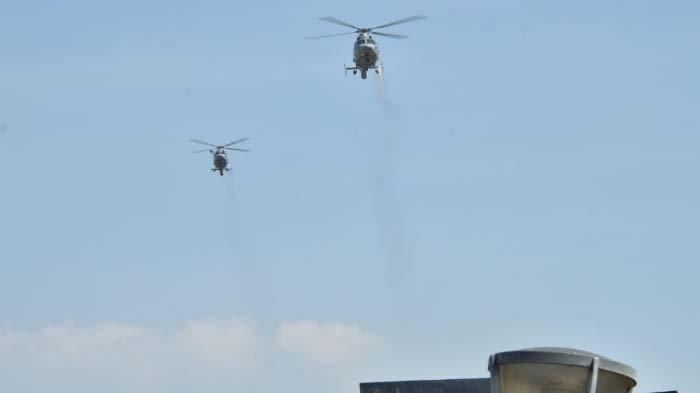 Ikut Perangi Wabah Covid-19 di Surabaya, Pesawat TNI AL Semprotkan 10 Ton Disinfektan dari Udara