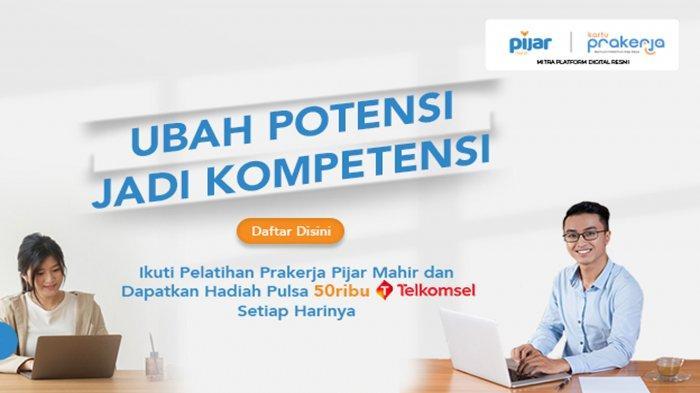 Peserta Kartu Prakerja Gelombang 18 Bisa Dapat Pulsa Gratis Telkomsel Rp 50 Ribu, Berikut Caranya