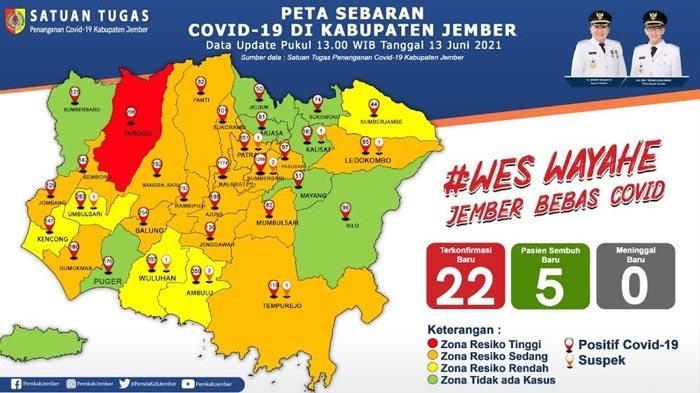Kecamatan Tanggul di Jember Jadi Zona Merah Covid-19, Hasil Tracing 18 Orang Positif Covid-19