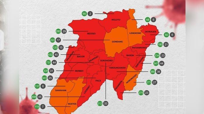 Jumlah Tempat Tidur Terpakai Pasien Covid-19 di RS Rujukan Kabupaten Nganjuk Capai 64,3 Persen