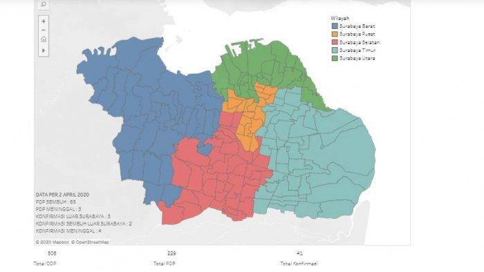 Update Virus Corona di Surabaya & Jatim Jumat 3 April: Pasien Sembuh Bertambah, 13 Orang di Surabaya