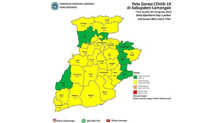 Lamongan Sudah Masuk Zona Kuning, Tingkat Kesembuhan Pasien Covid-19 Meningkat 91,78 Persen