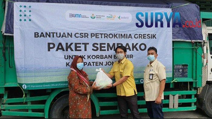 Gelontor Rp 100 Juta, Petrokimia Gresik Ringankan Beban Korban Bencana di Jombang dan Pati