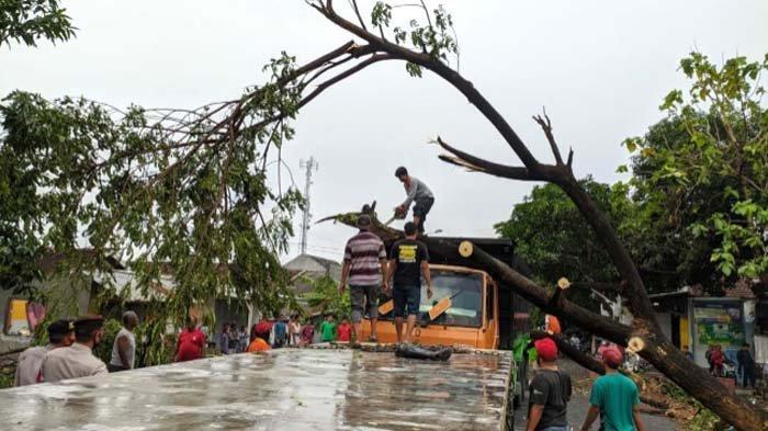 Angin Kencang Mengamuk di Dua Desa di Mojokerto: Puluhan Rumah Warga Rusak, termasuk Baliho Roboh