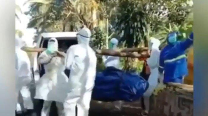 VIRAL VIDEO Teriakan Pilu Petugas Pemakam Jenazah Covid-19 saat Dilempari Warga, Bupati Akui Lambat