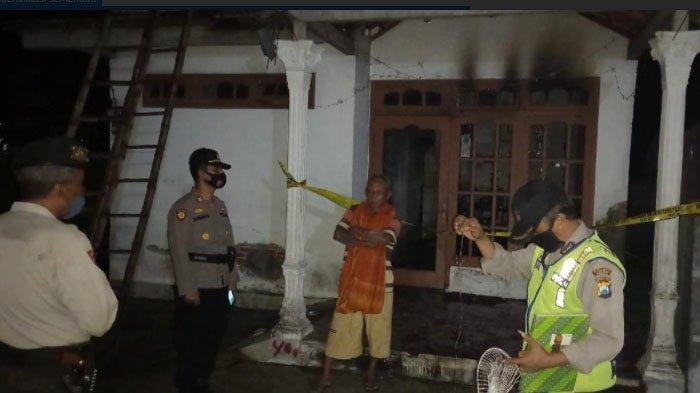 Gara-gara Lupa Melepas Kabel Kipas Angin,Rumah di Gampengrejo Kediri Nyaris Ludes Terbakar