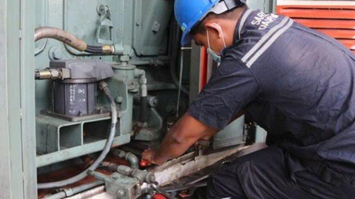 Masa Pandemi Covid-19, KAI Daop 7 Madiun Rutin Lakukan Perawatan Lokomotif Kereta Api