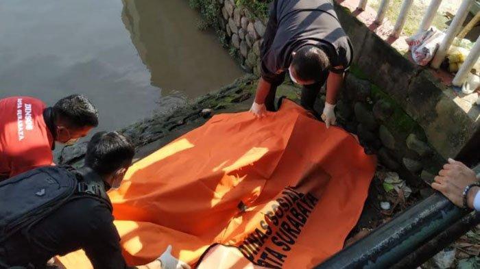Mayat Mengapung di Sungai Jagir Kota Surabaya, Diduga Pelaku Jambret yang Takut Dikejar Warga