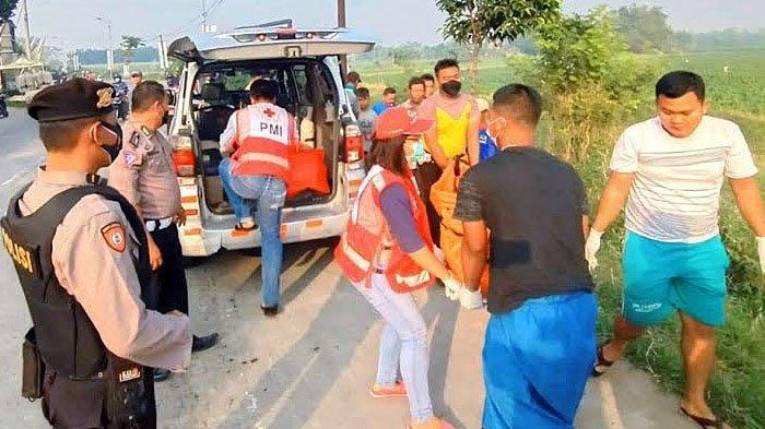 Kecelakaan Maut di Mojokerto, Sepeda Motor Ninja Bonceng 3 Masuk Parit, Satu Korban Meninggal