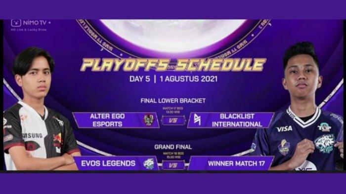Hasil Playoff NMA Season 3: Tekuk Blacklist, Alter Ego Tantang EVOS Legends di Grand Final