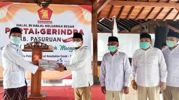 Bantu Pembangunan RS NU di Pasuruan, Partai Gerindra Sumbang Rp 50 Juta