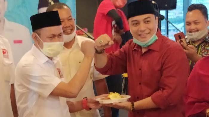 Plt Ketua DPD PSI Surabaya, Yusuf Lakaseng bersama Calon Wali Kota Surabaya Eri Cahyadi beberapa waktu lalu.