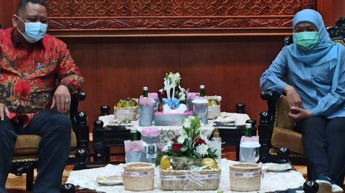 Bertemu Gubernur Khofifah, Whisnu Sakti Koordinasi Penanganan Covid-19