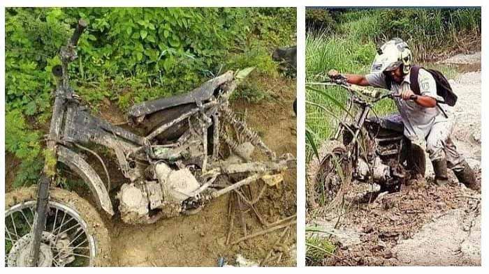 Cerita Polisi Beri Trail ke Guru Honorer yang Ngajar di Pelosok Jombang, Sudah Ganti Motor 9 Kali