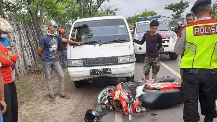 KRONOLOGI Dua Remaja Pengendara Motor Scoopy Asal Lamongan Dihantam Pikap di Tuban, Satu Tewas