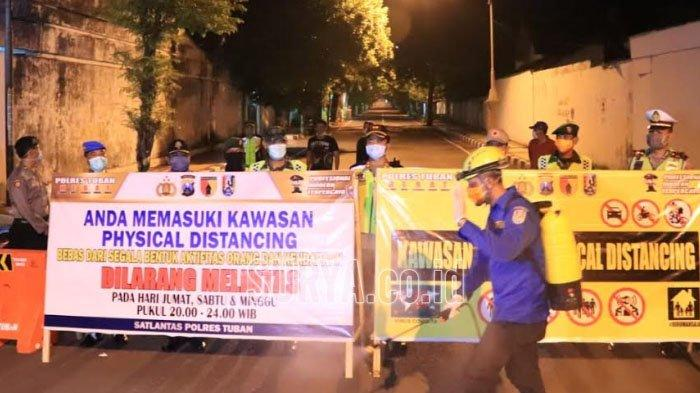 Tuban Mulai Terapkan Pshycal Distancing di Sejumlah Ruas Jalan, Jangan Melintas di Jam Berikut