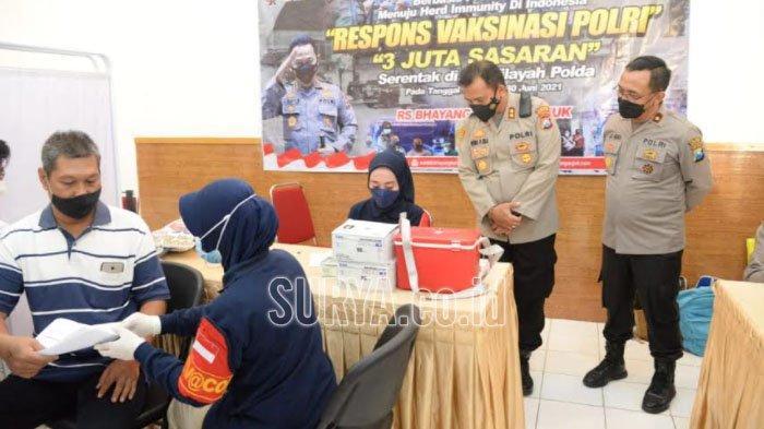 145 Warga Kota Madiun Jalani Vaksinasi Covid-19 di Mapolres Madiun Kota