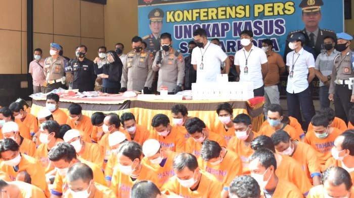 Polresta Sidoarjo Ungkap 79 Kasus Narkoba dengan 89 Pelaku selama 12 Hari, Seorang Pelakunya Wanita