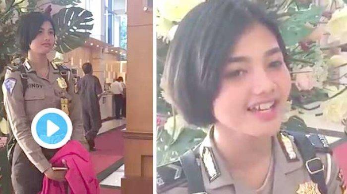 VIDEO - 'Gemesin Banget', Polwan Nyanyi Lagu Armada di Lobby Malu-malu