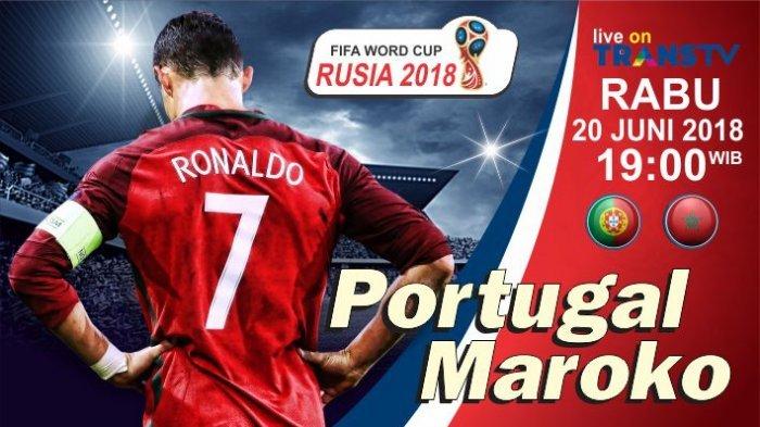 Pertandingan Piala Dunia 2018 Portugal vs Maroko Hari ini, Berikut Prediksi Susunan Pemainnya