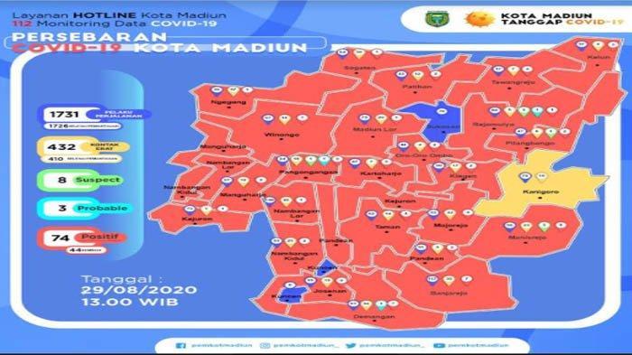 Tambahan 4 Warga Kota Madiun Terkonfirmasi Positif Corona, Ada 1 Balita Berumur 1 Tahun