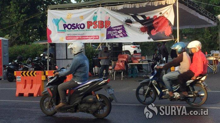 Petugas Check Point PSBB Surabaya di Bundaran Waru Dapati Lagi ODP yang Masih Keluyuran