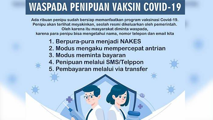 Polres Gresik Sebar Poster Imbauan Waspada Penipuan Jual Beli Vaksin Covid-19