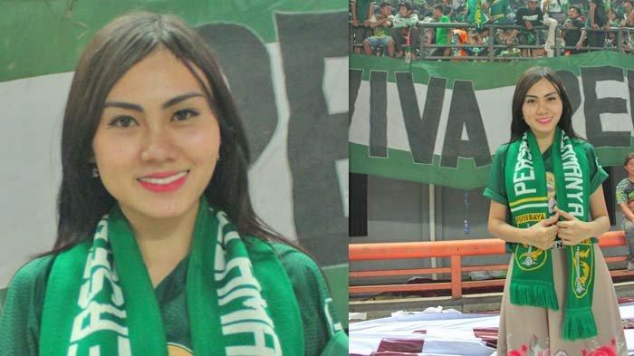Potret Citra Oktavia Mochtar, Merinding Atmosfir Stadion saat Persebaya Vs PSIS Semarang