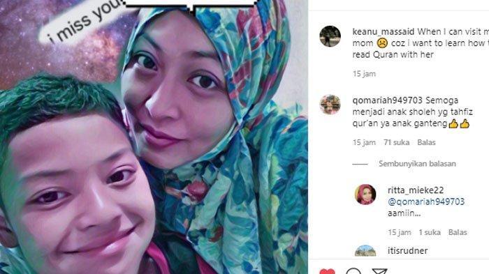 Potret kerinduan Keanu Massaid ke sang ibu, Angelina Sondakh.