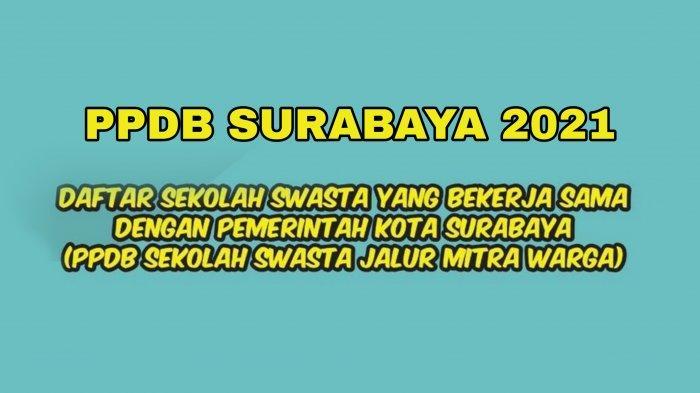 PPDB Surabaya 2021, Ini Daftar Sekolah SMP Swasta Jalur Mitra Warga