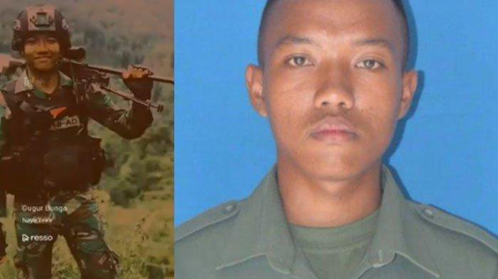 Prada Ginanjar Arianda yang gugur ditembak KKB Papua. Anak buah Jenderal Andika Perkasa ini mengalami luka di perutnya.