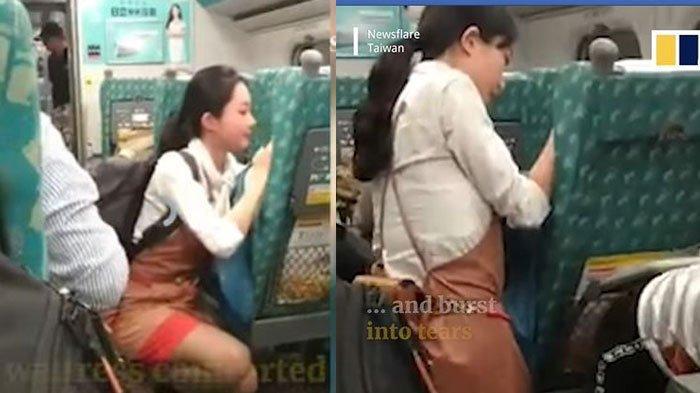 Pramugari Cantik Terekam Sedang Menghibur Penumpang Kereta yang Menangis, Videonya Viral di Facebook