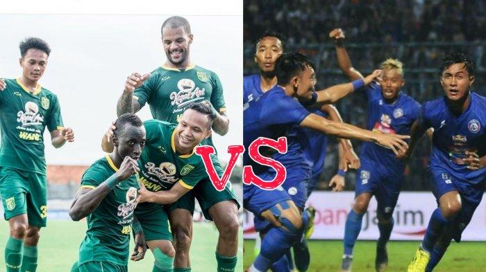 Prediksi Skor Persebaya vs Arema FC Semifinal Piala Gubernur Jatim 2020, Berikut Rapor Head to Head