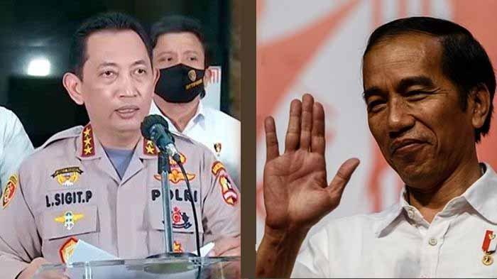 Komjen Listyo Sigit Prabowo dan Presiden Jokowi.