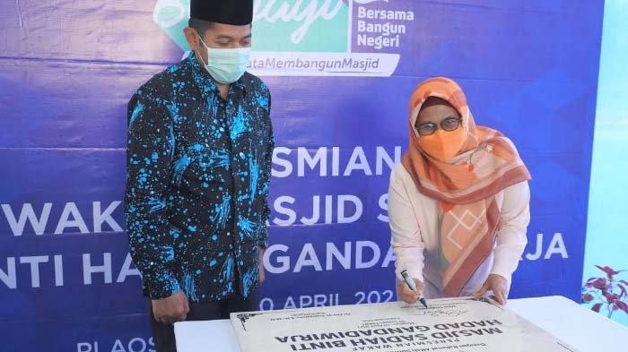 XL Axiata Resmikan Masjid Sadiah binti Hadad Gandadiwirja di Magetan, Wakaf Karyawan dan Perusahaan