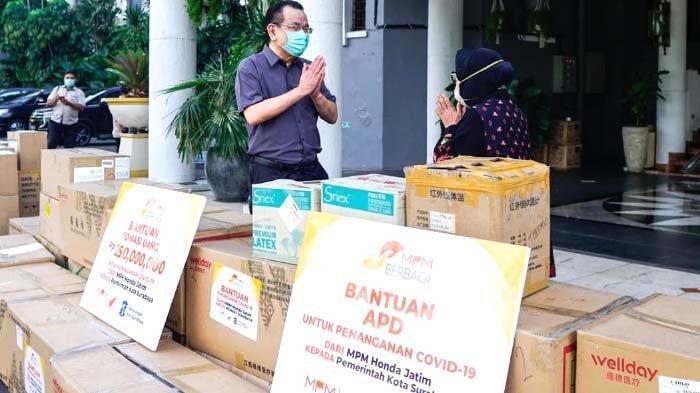 MPM Honda Jatim Donasi 500 Juta kepada Pemkot Surabaya untuk Bantu Tangani Covid-19
